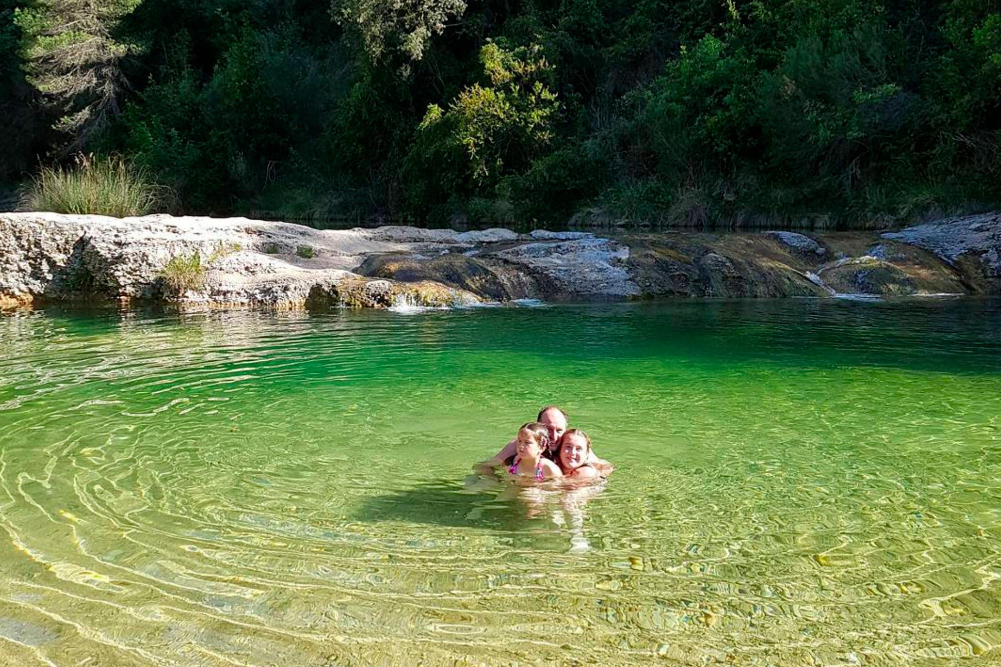 Las Pesqueras en el río Ulldemó de Beceite.