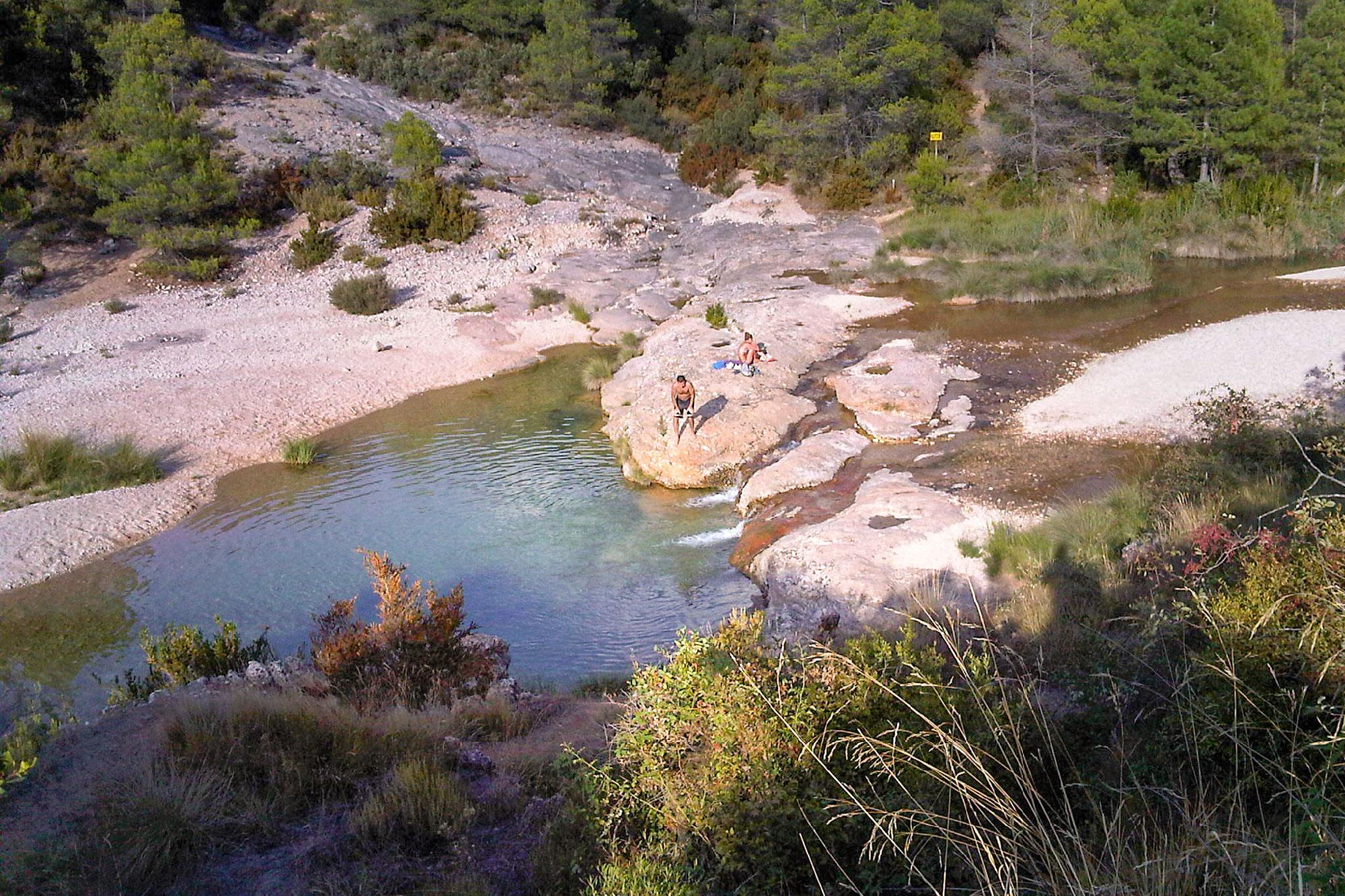 La Pesquera en el río Ulldemó en Beceite